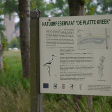 Nature reserve 'Platte Kreek'